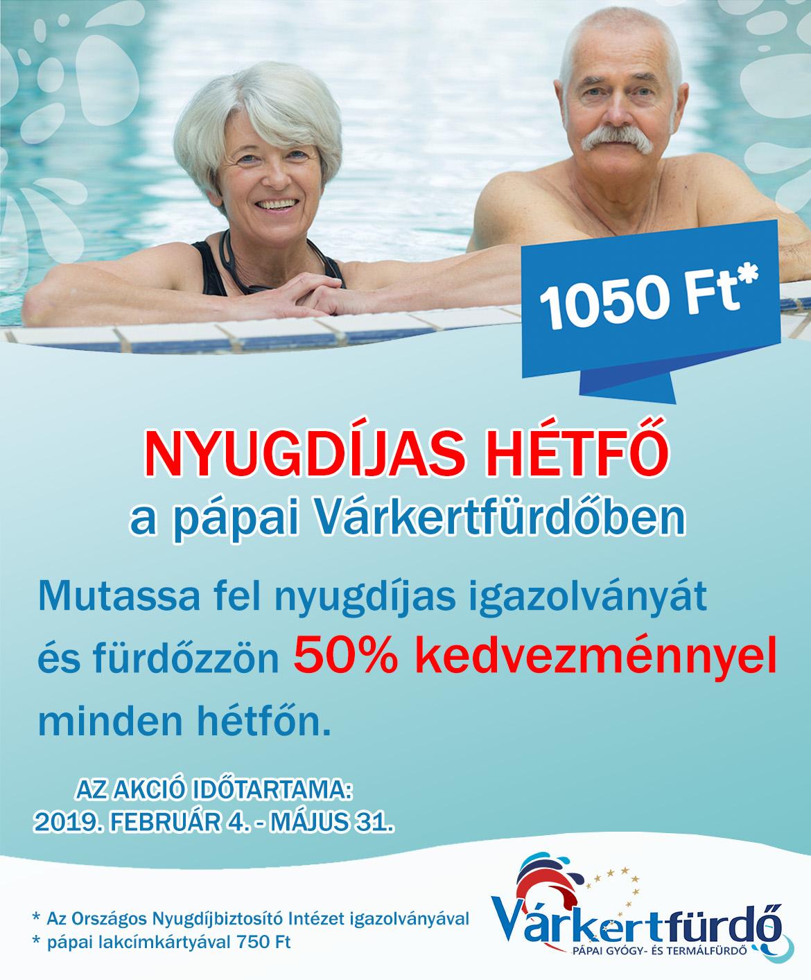 Nyugdíjas hétfő 2019.02.04-05.31.